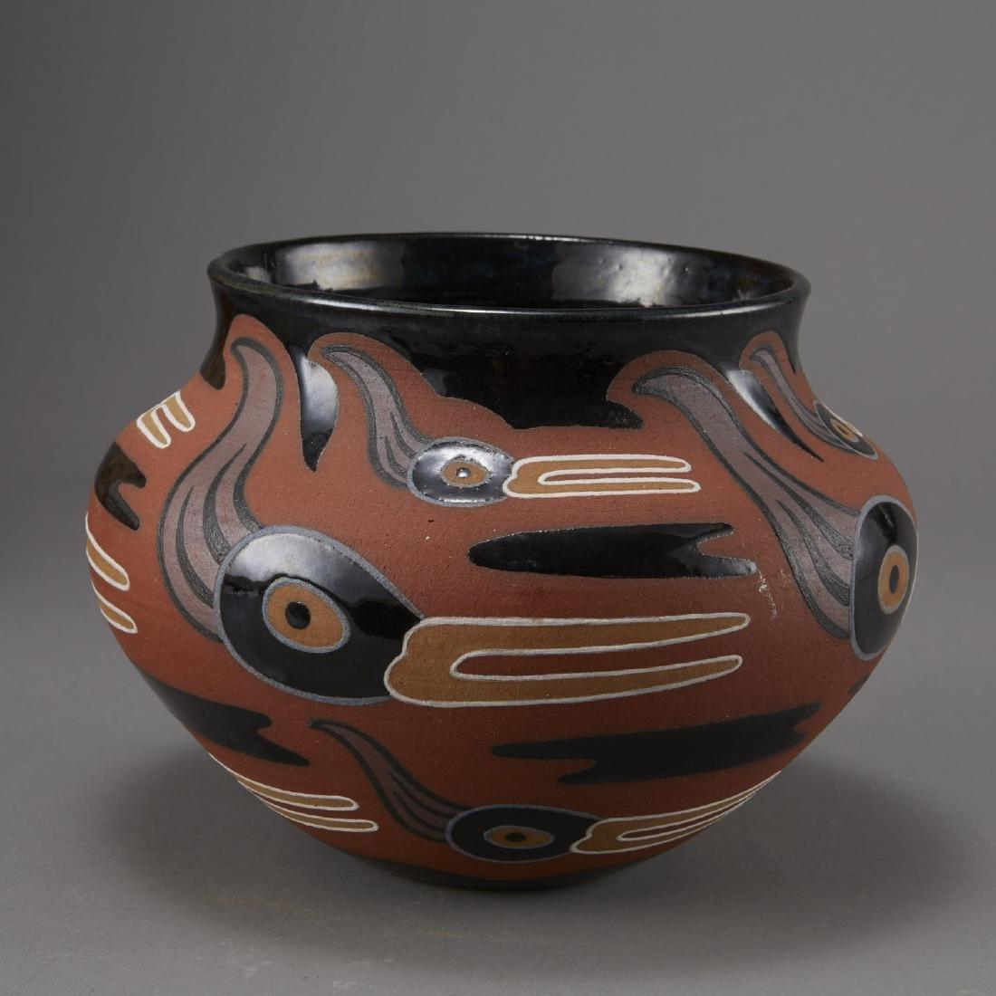 6 Pueblo Pottery Pots incld Fragua, Nez, Medina - 8