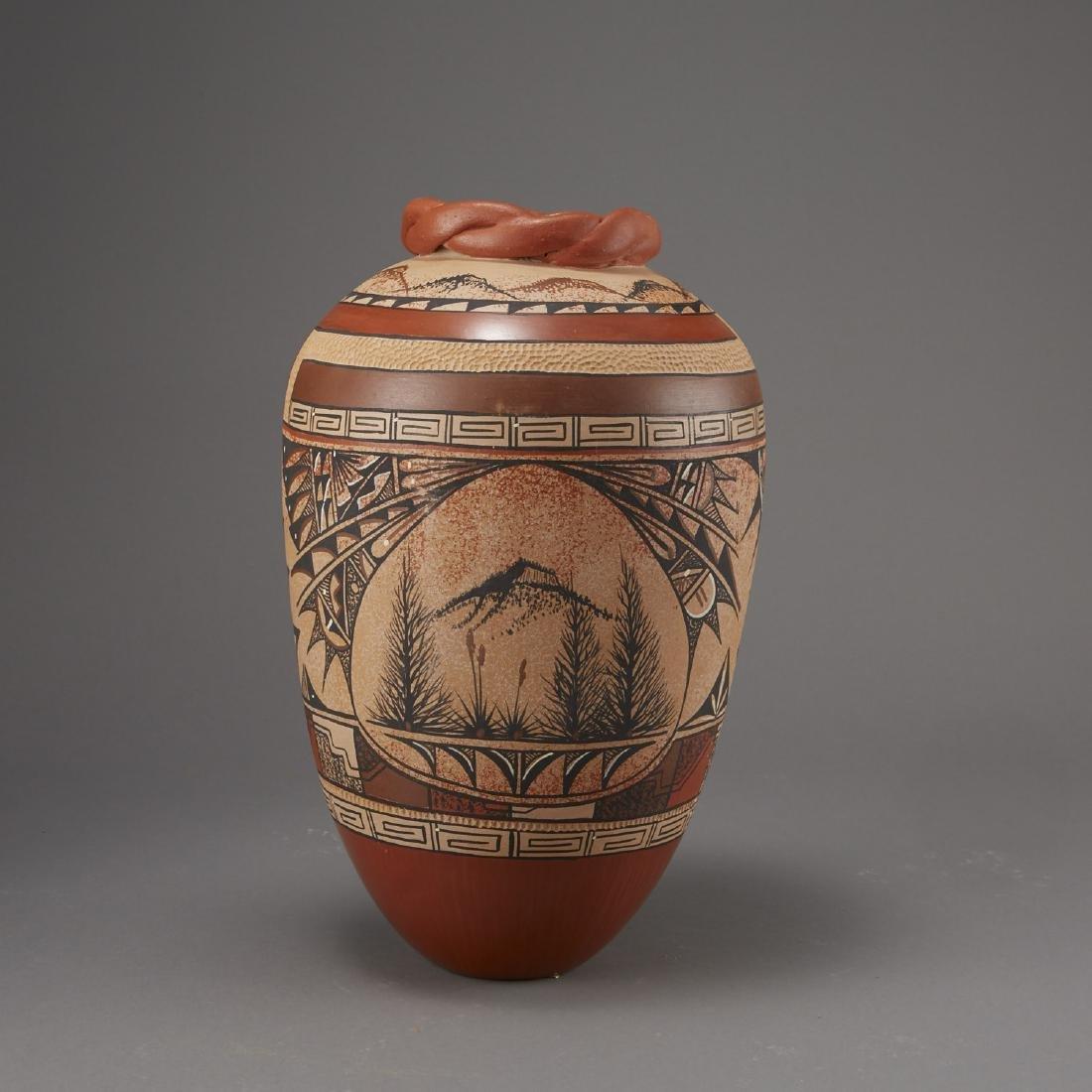 6 Pueblo Pottery Pots incld Fragua, Nez, Medina - 9