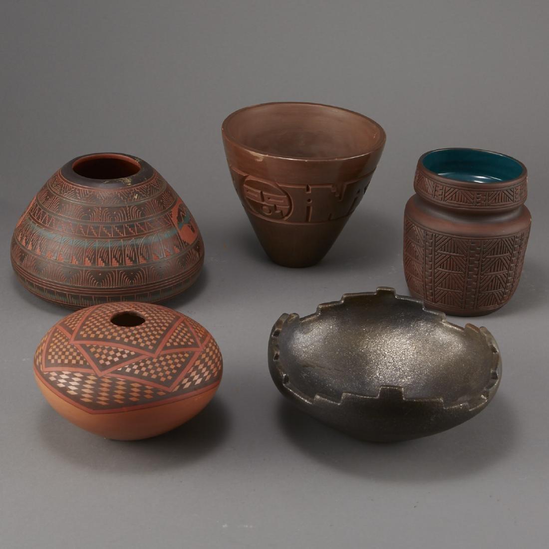 5 Pieces of Native American Pottery Sheldon Nunez