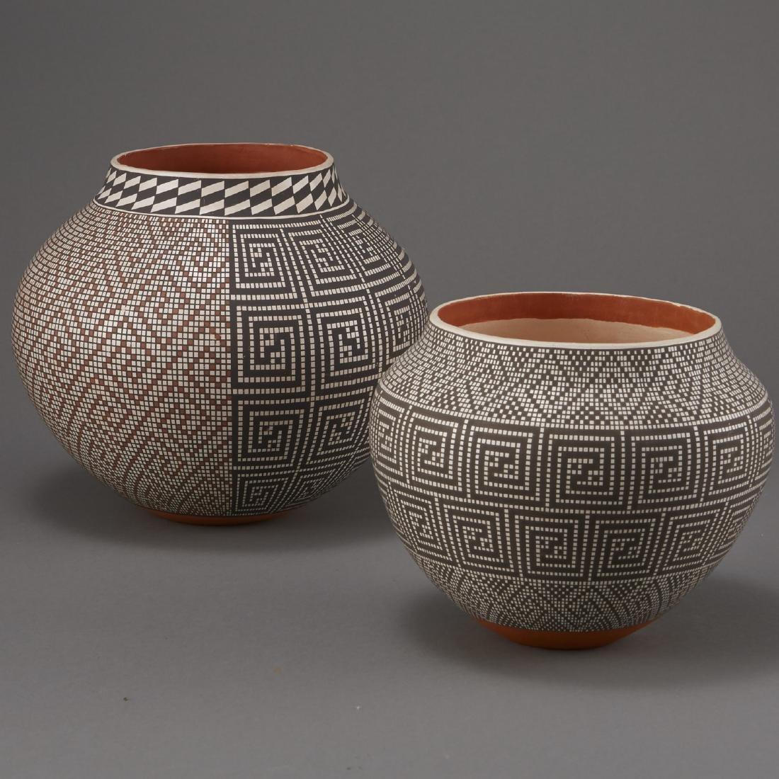 2 Frederica Antonio Acoma Pueblo Pottery Jar