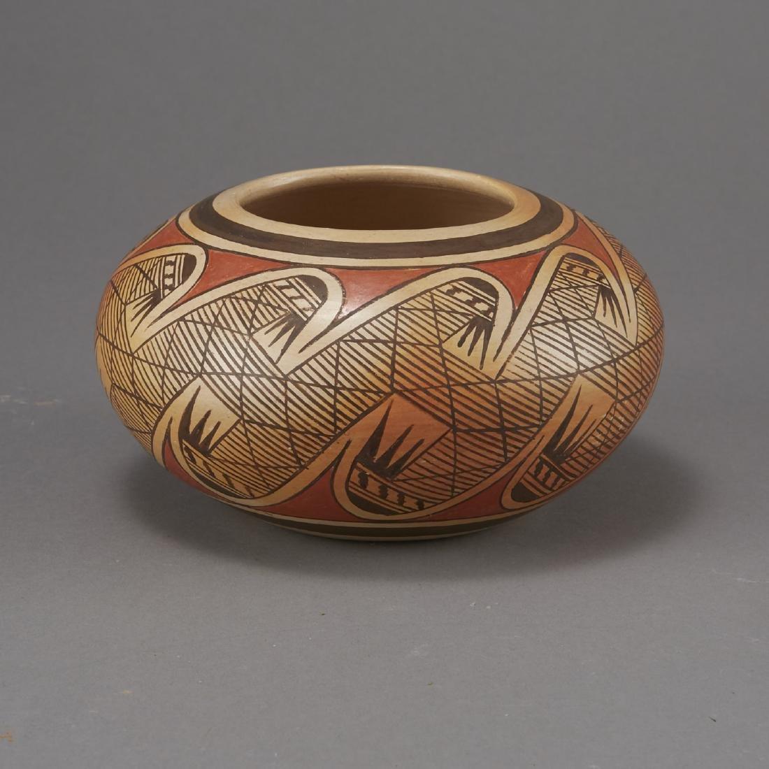 Fannie Nampeyo Hopi Migration Pattern Jar - 2