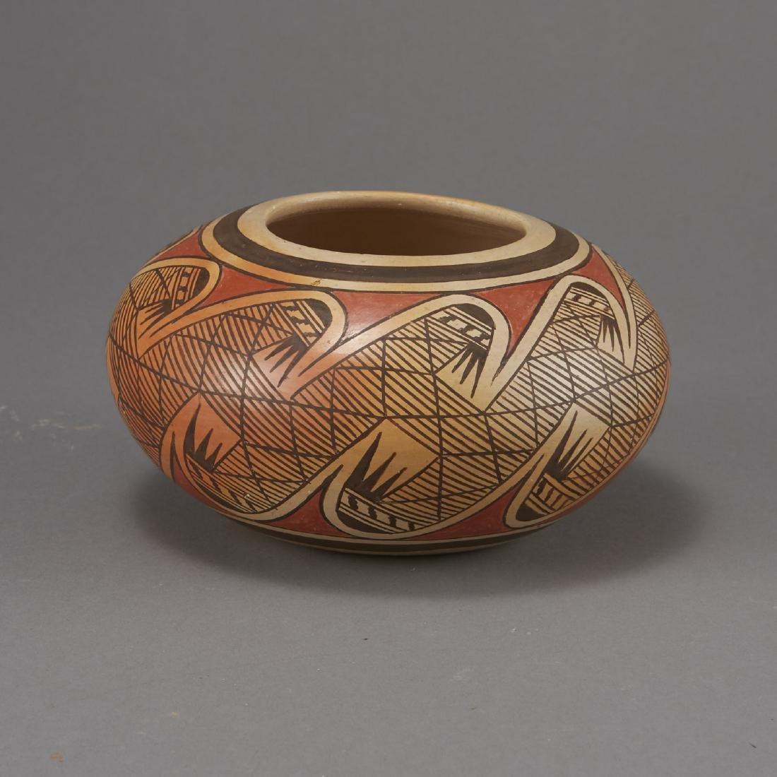 Fannie Nampeyo Hopi Migration Pattern Jar - 3