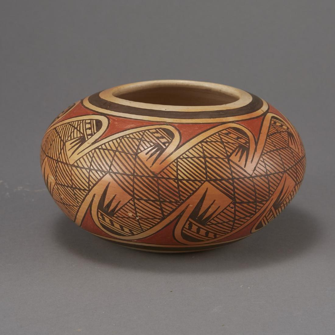 Fannie Nampeyo Hopi Migration Pattern Jar - 4