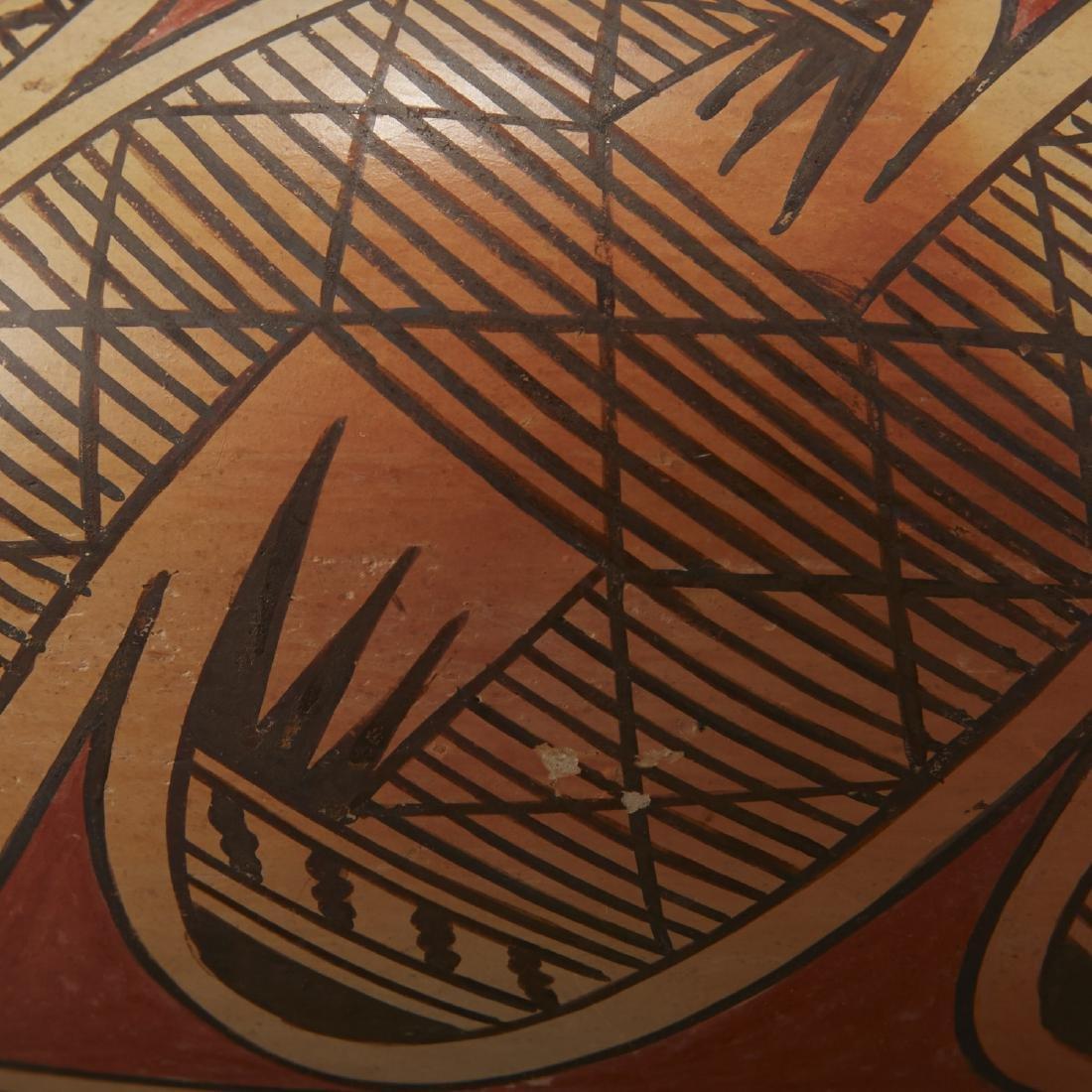 Fannie Nampeyo Hopi Migration Pattern Jar - 5