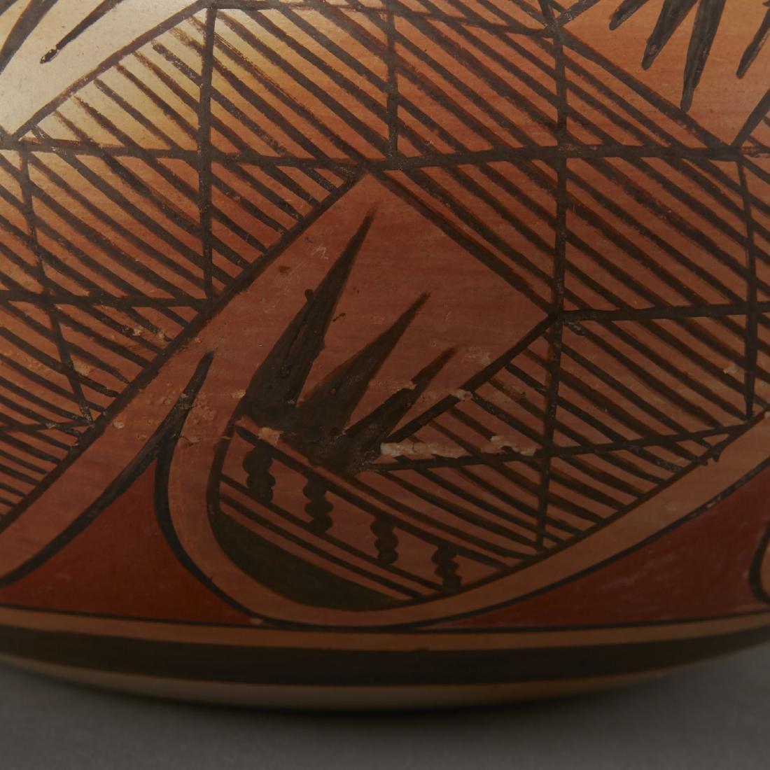 Fannie Nampeyo Hopi Migration Pattern Jar - 6
