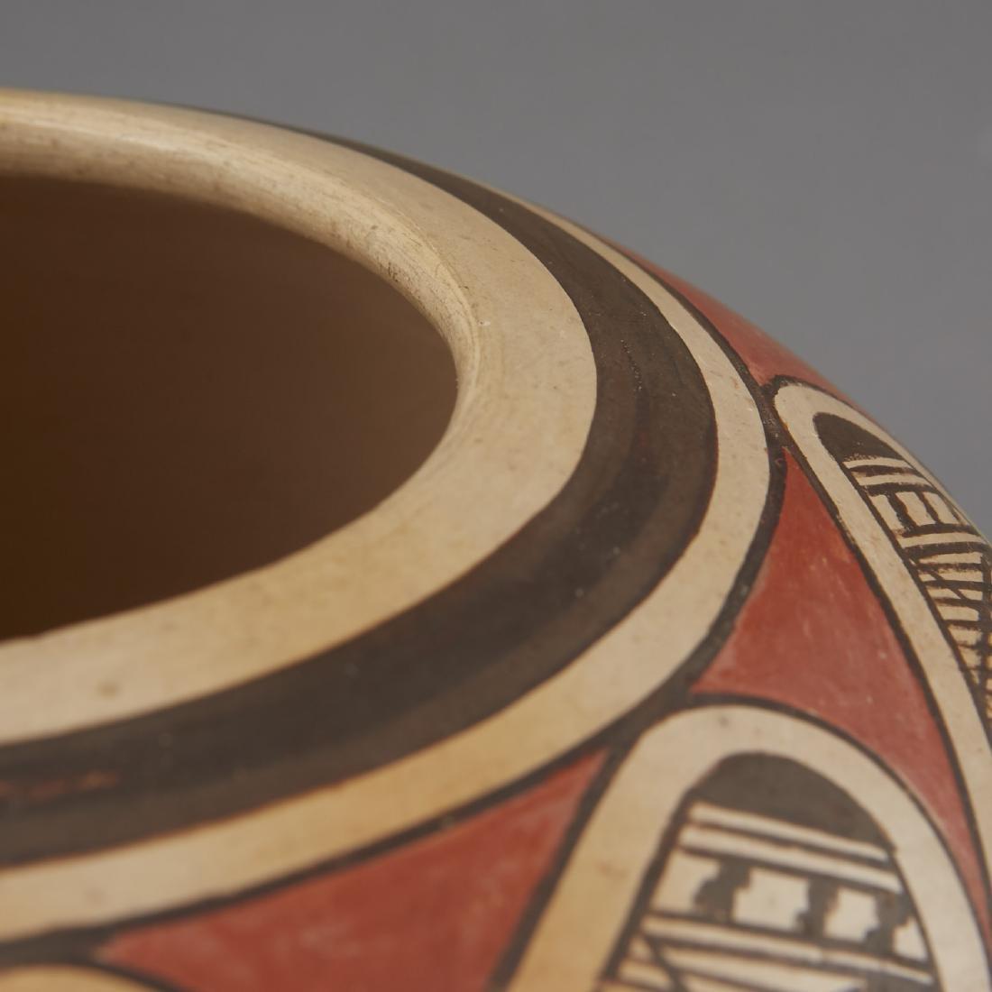 Fannie Nampeyo Hopi Migration Pattern Jar - 7