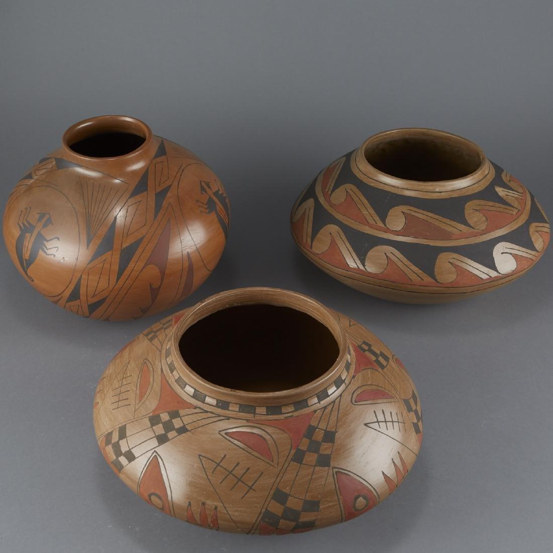 3 Polychrome Pottery Jars - 2