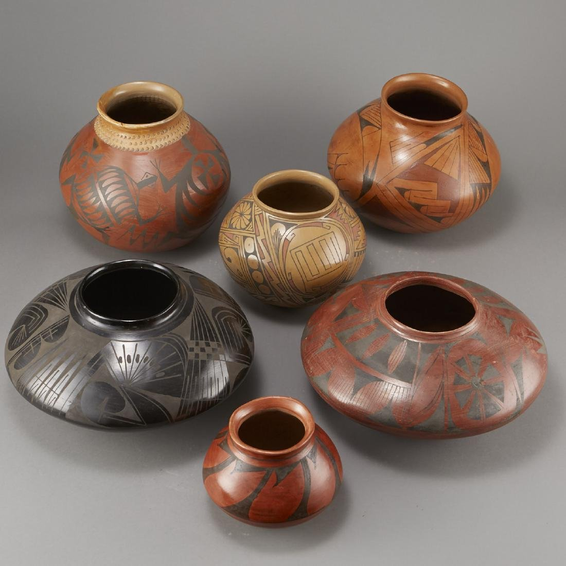 6 Pieces of Polychrome Pottery - 2