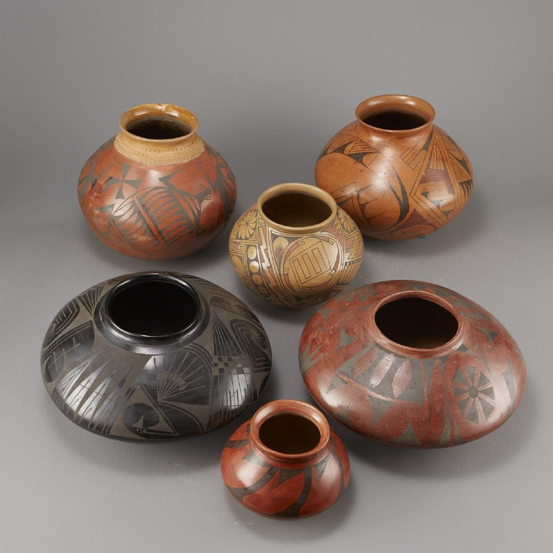 6 Pieces of Polychrome Pottery - 3