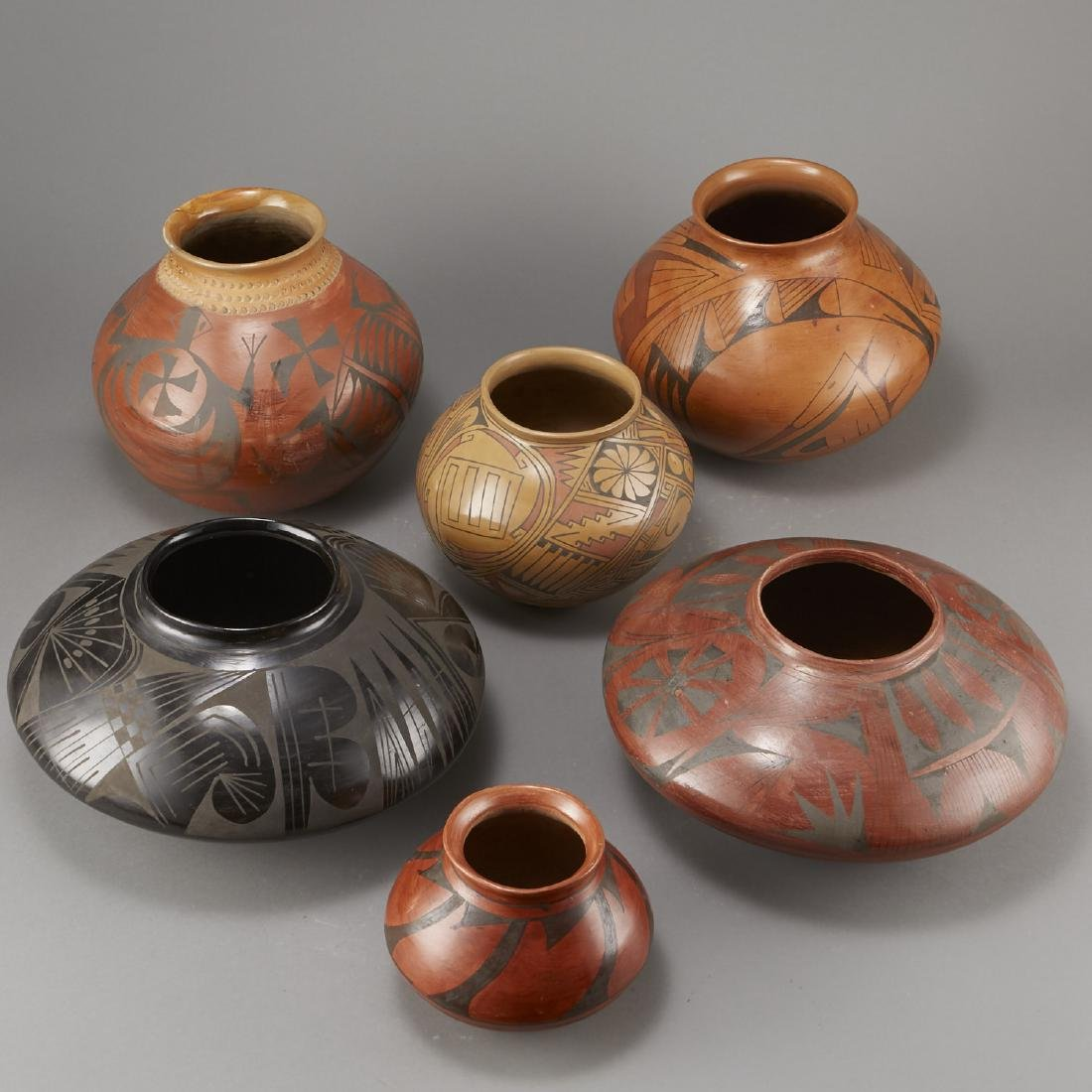 6 Pieces of Polychrome Pottery - 4
