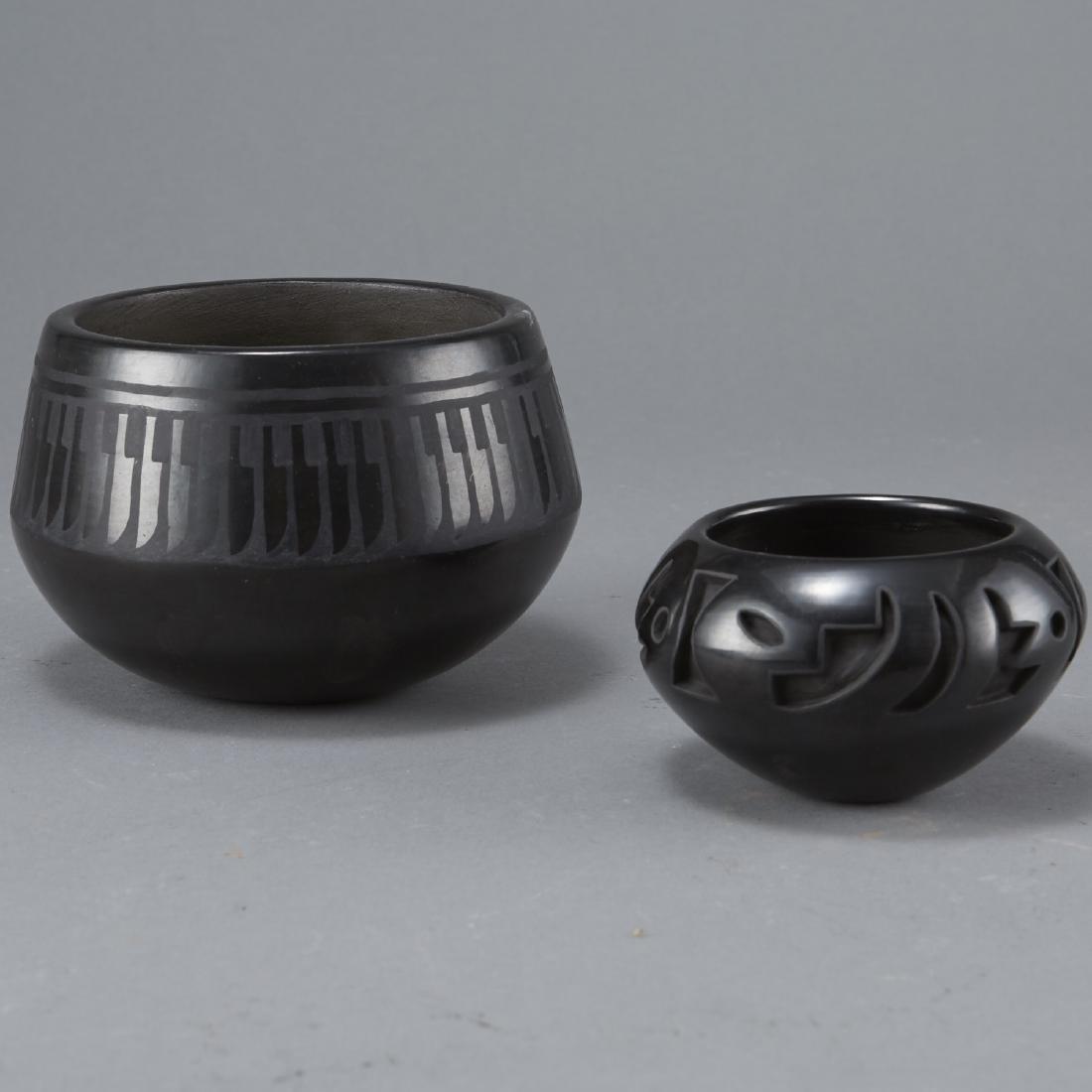 Group of 2 Blackware Pottery Naranjo Velverde - 2