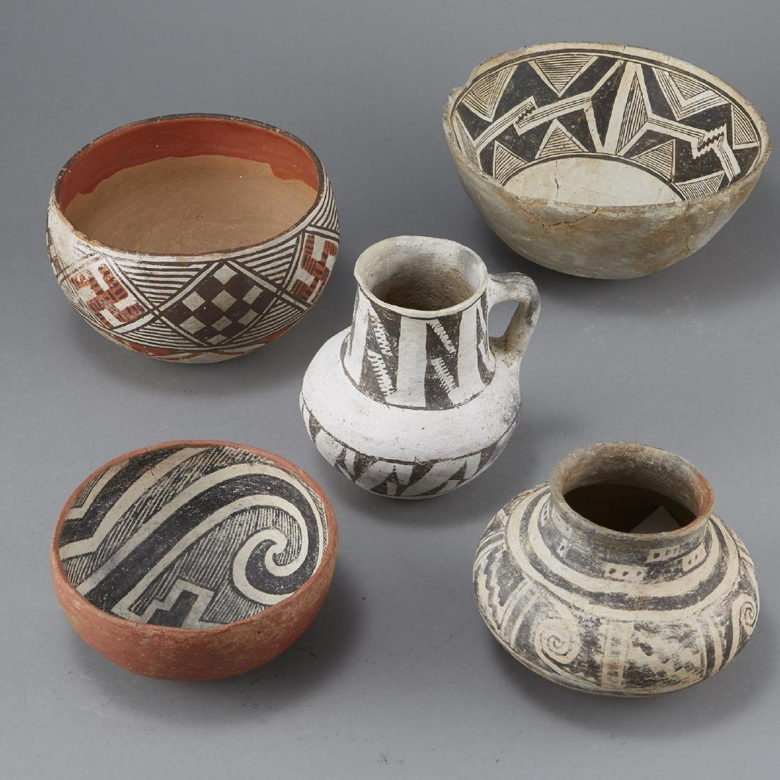 5 Prehistoric Pottery Pieces