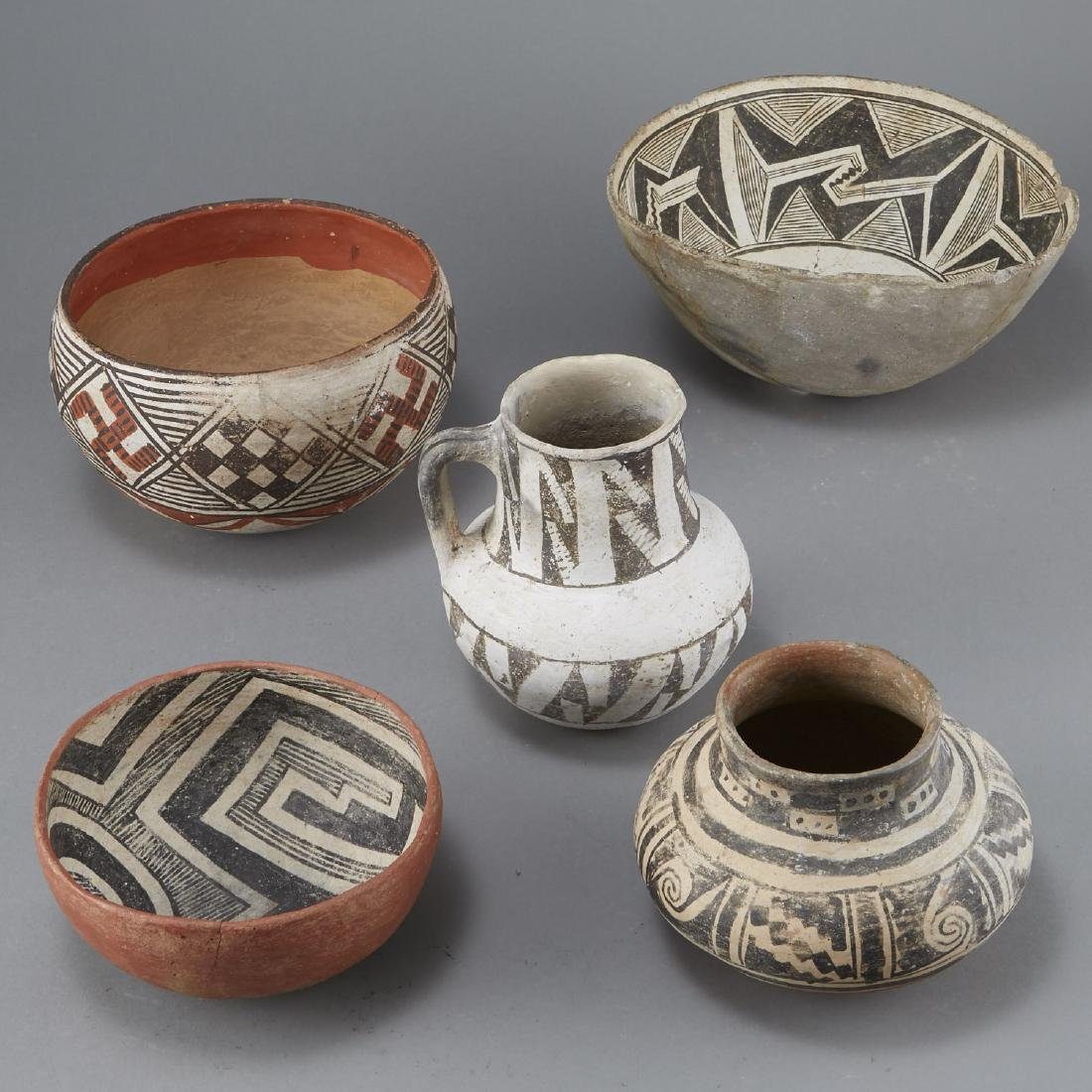 5 Prehistoric Pottery Pieces - 3