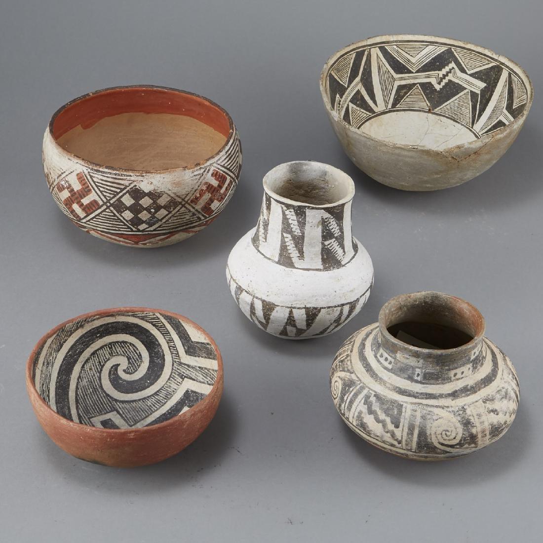 5 Prehistoric Pottery Pieces - 4