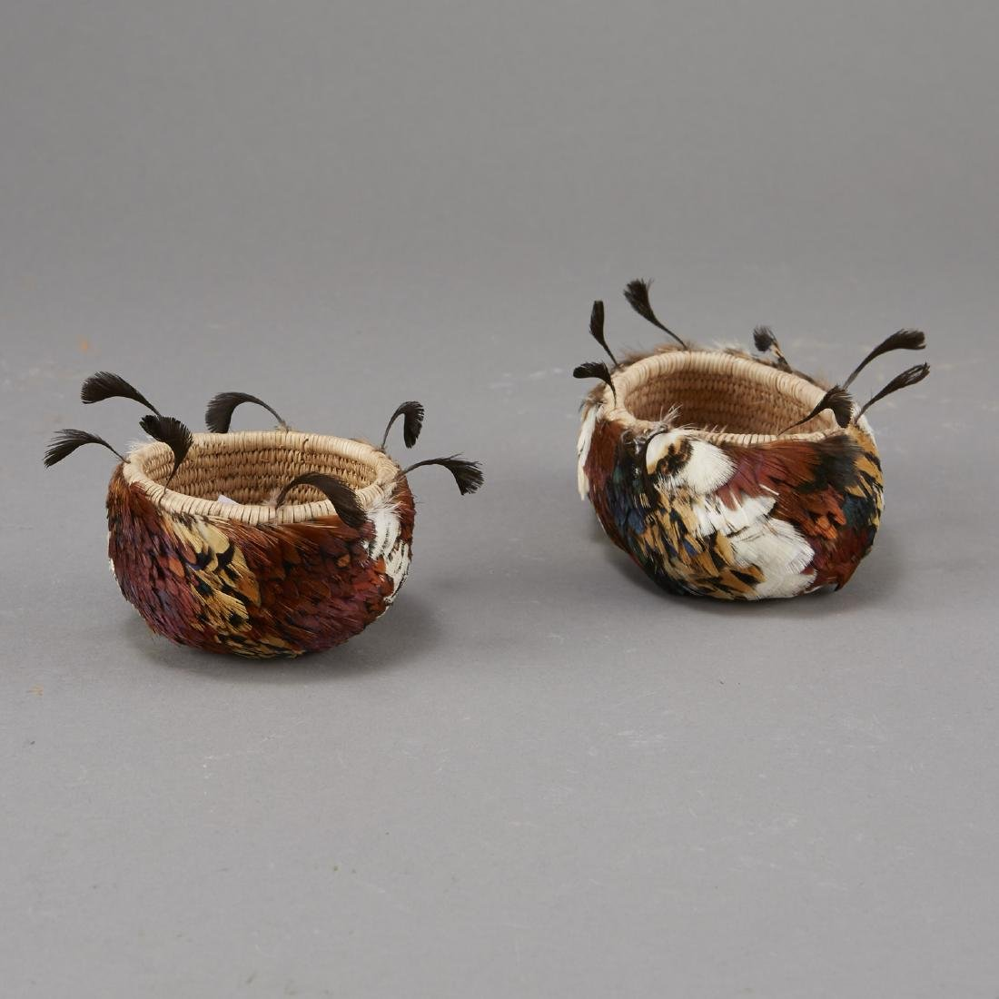Group of 2 Feathered Pomo Baskets