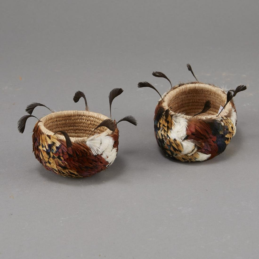 Group of 2 Feathered Pomo Baskets - 4