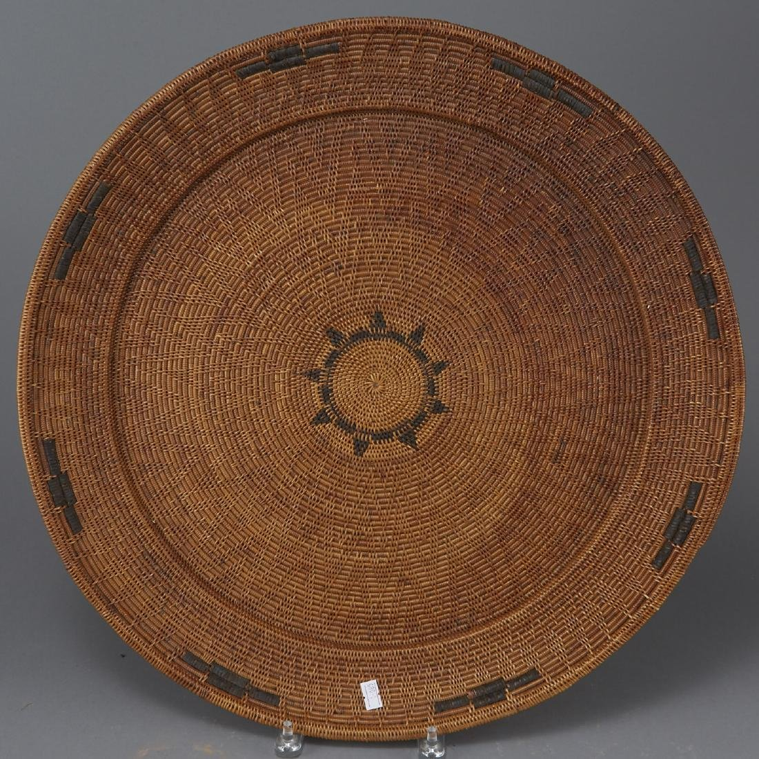 Group of 5 Pima Woven Baskets and Trays - 3