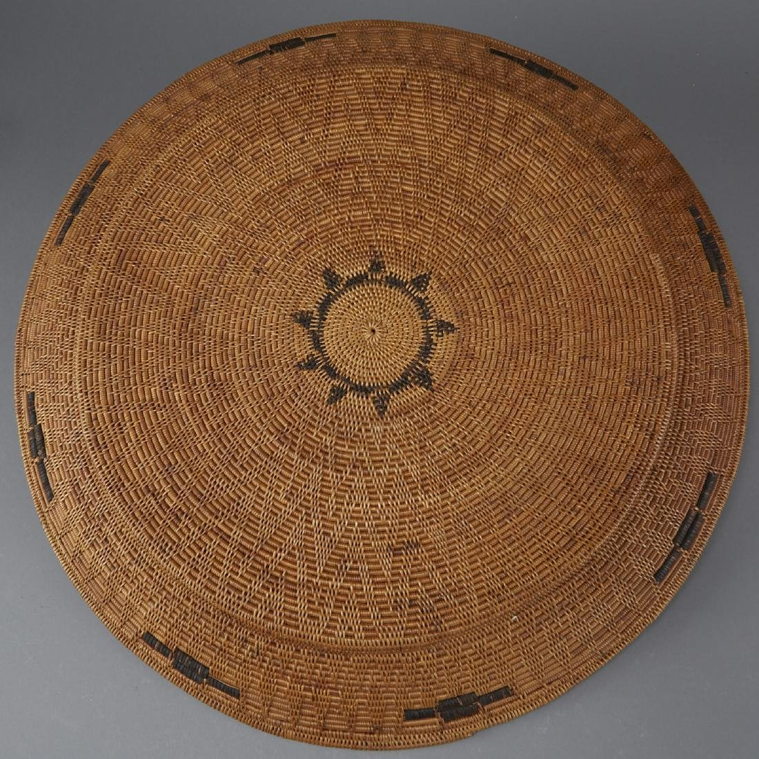 Group of 5 Pima Woven Baskets and Trays - 5