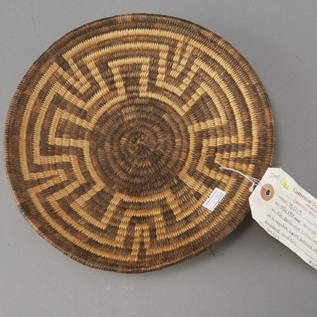 Group of 5 Pima Woven Baskets and Trays - 7