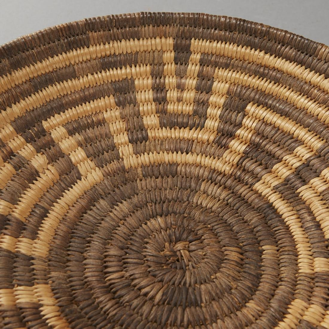 Group of 5 Pima Woven Baskets and Trays - 8