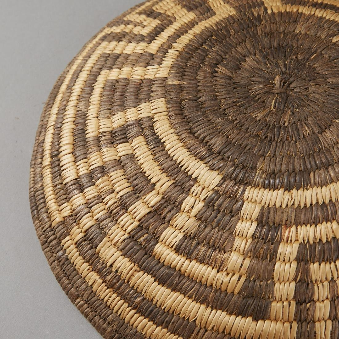 Group of 5 Pima Woven Baskets and Trays - 9
