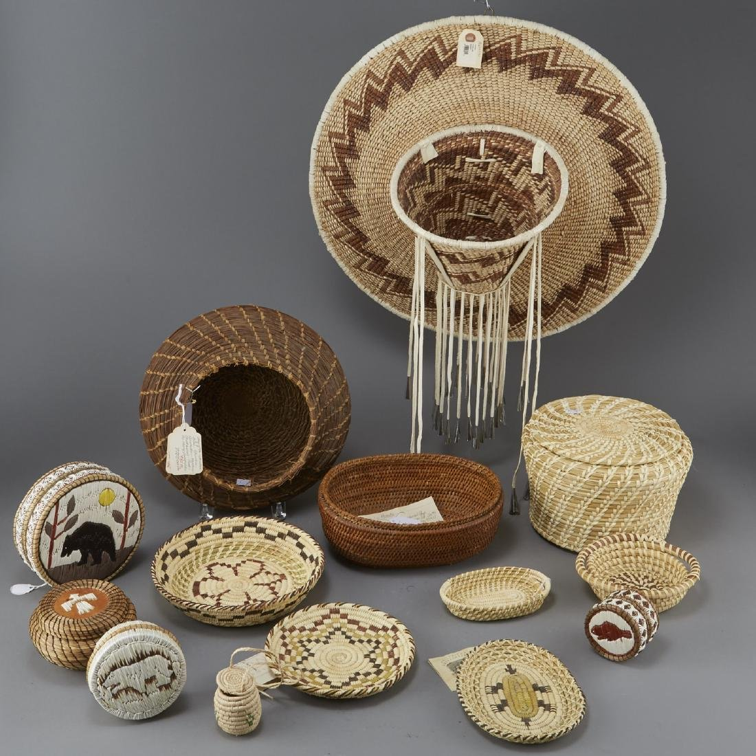 Group of 14 Native American Baskets