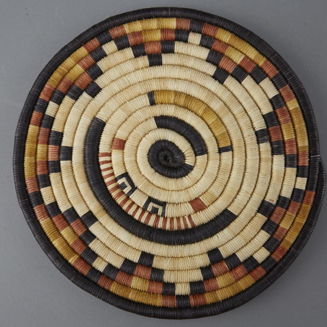 Group of 8 Native American Polychrome Woven Trays - 2