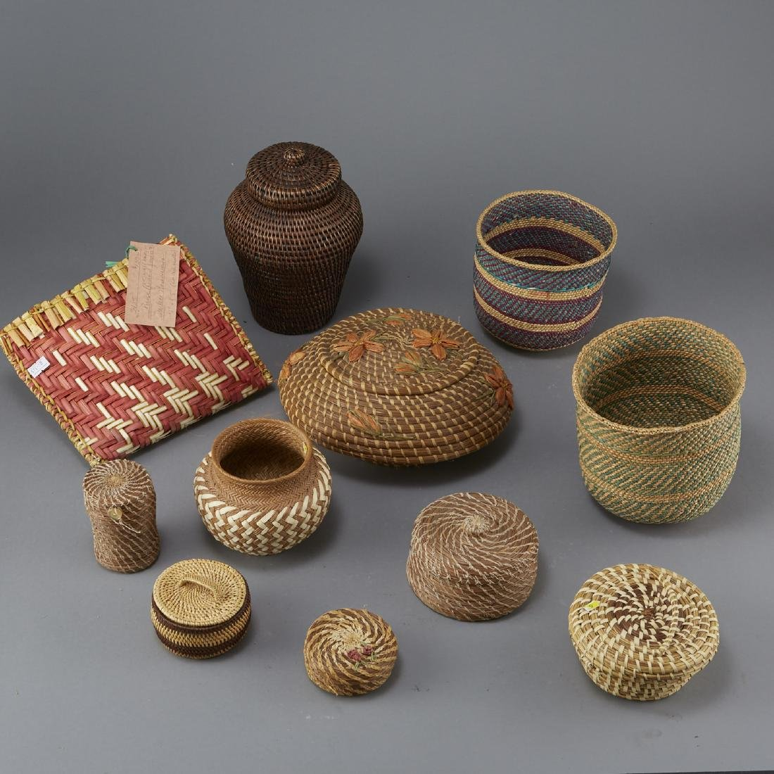 Group of 11 Native American Woven Objects