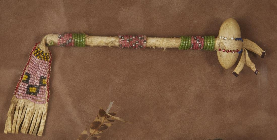 Pair of Beaded Sioux Dolls with Club Provenance - 3