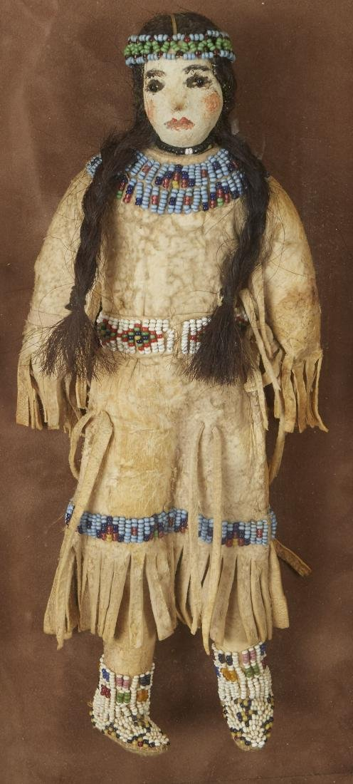 Pair of Beaded Sioux Dolls with Club Provenance - 5
