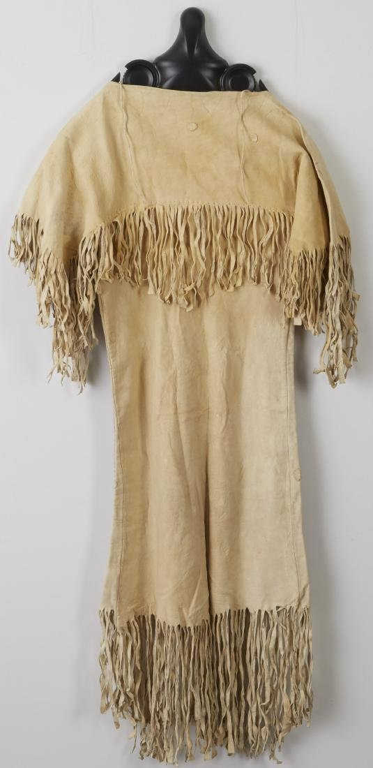 Northern Plains Beaded and Fringed Hide Dress - 2