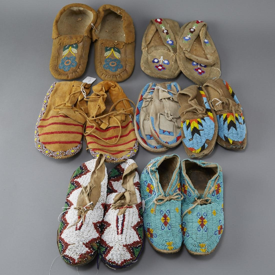 7 Pairs Beaded Moccasins - 2
