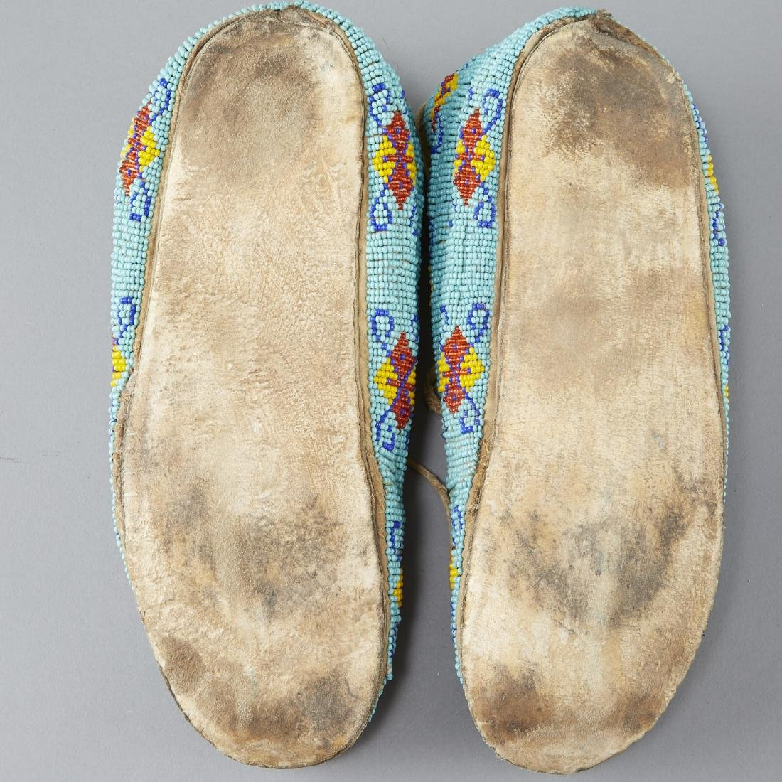 7 Pairs Beaded Moccasins - 7