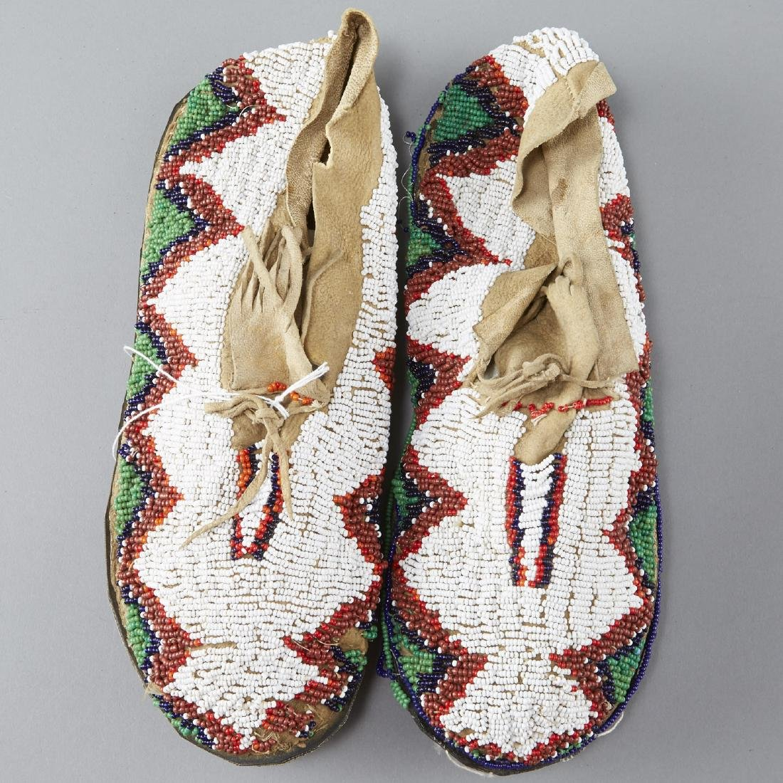 7 Pairs Beaded Moccasins - 8