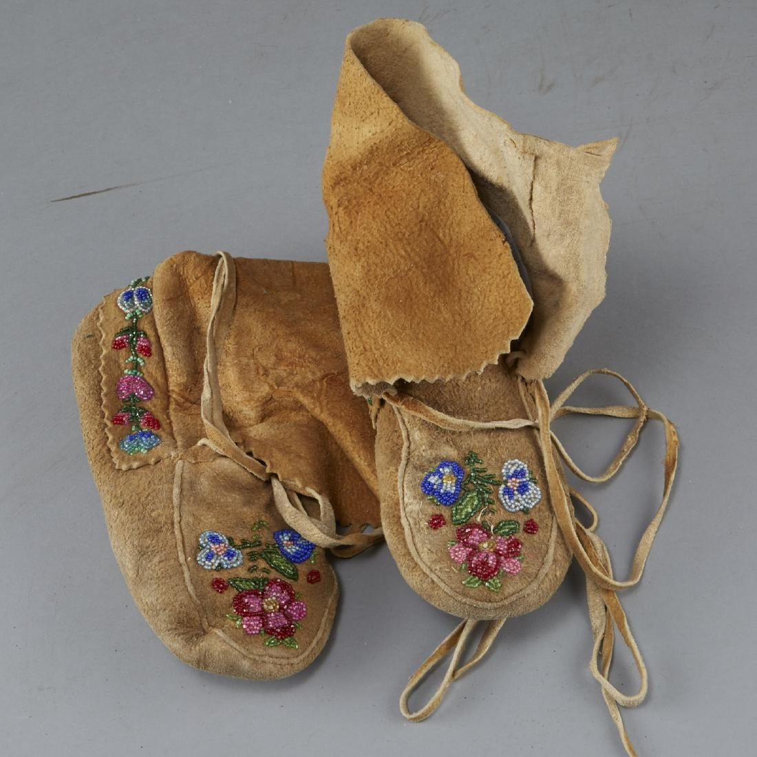 8 Pairs Beaded Moccasin Boots - 4