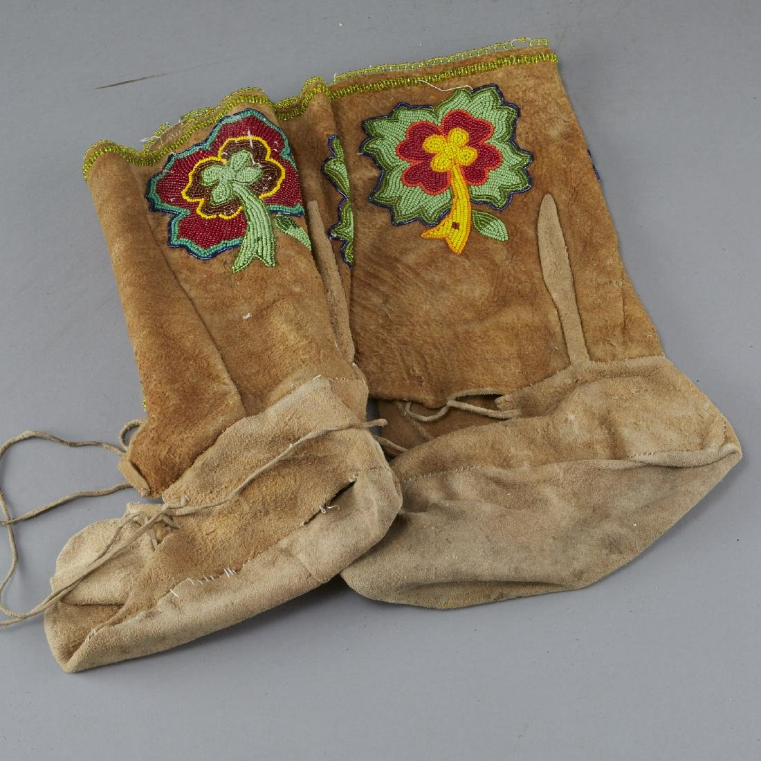 8 Pairs Beaded Moccasin Boots - 5