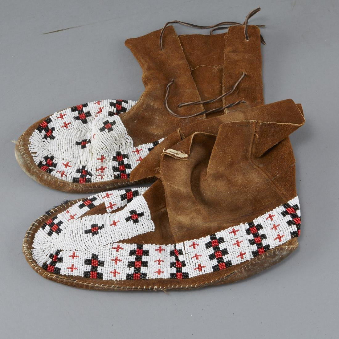 8 Pairs Beaded Moccasin Boots - 7