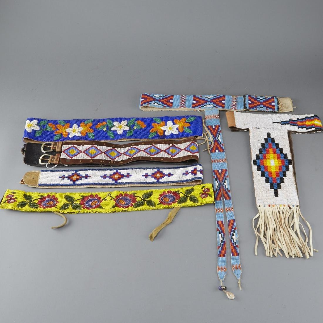 6 Native American Beaded Belts