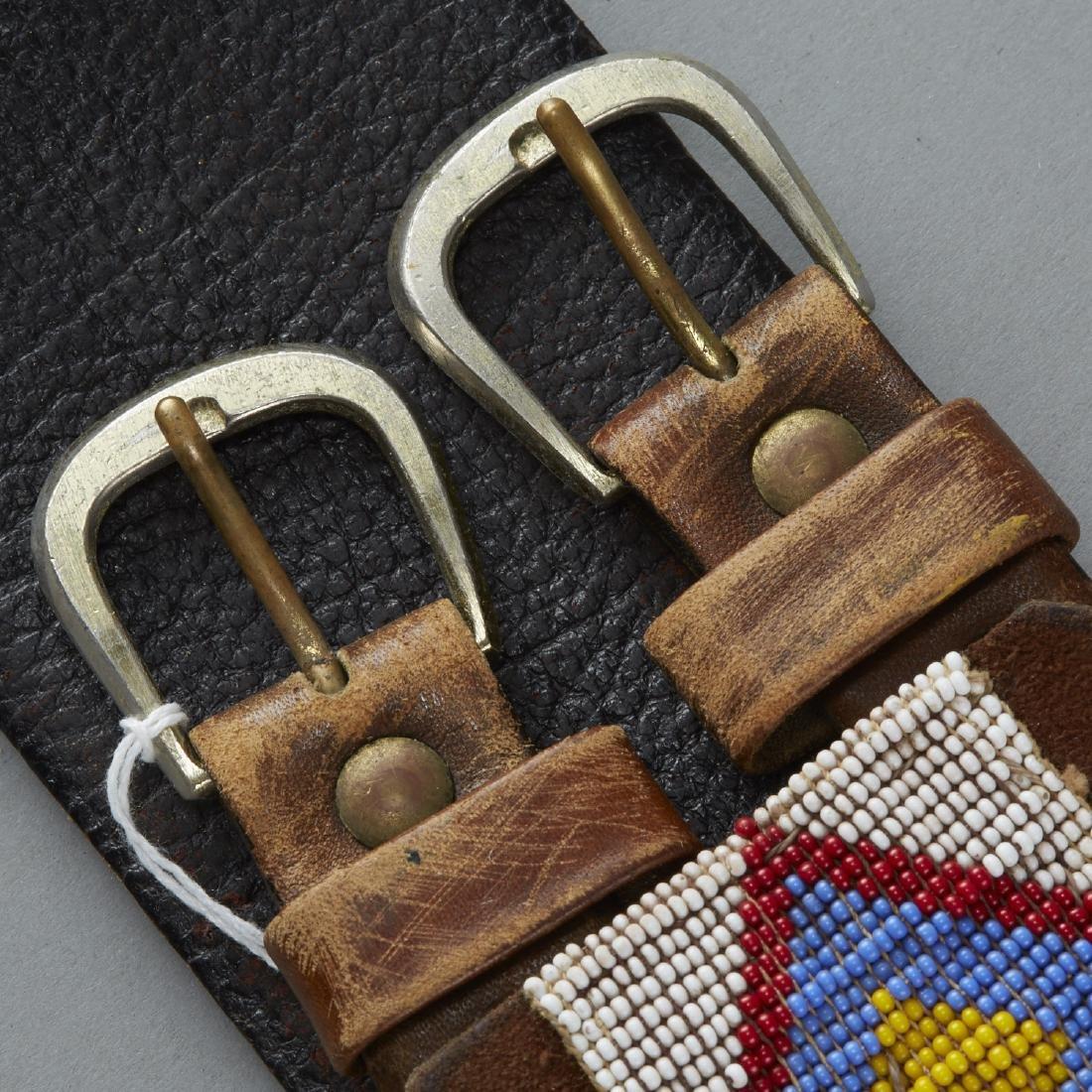 6 Native American Beaded Belts - 7