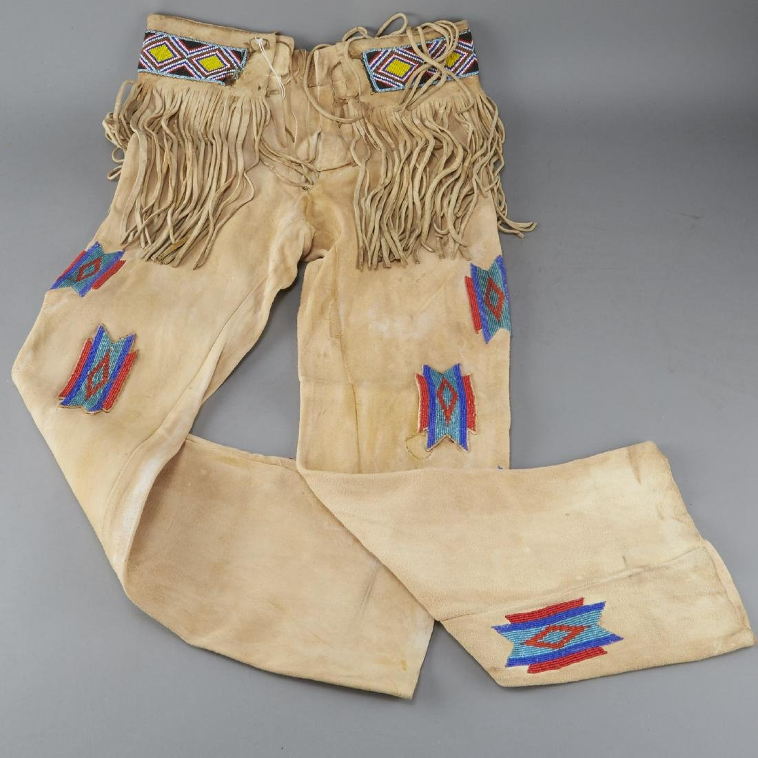 Native American Beaded Leather Pants