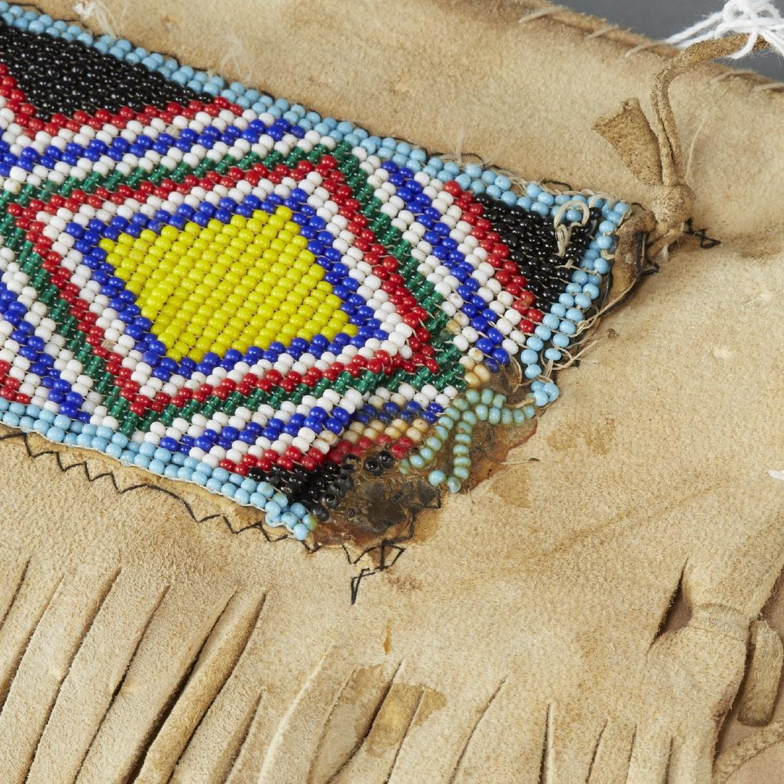 Native American Beaded Leather Pants - 4