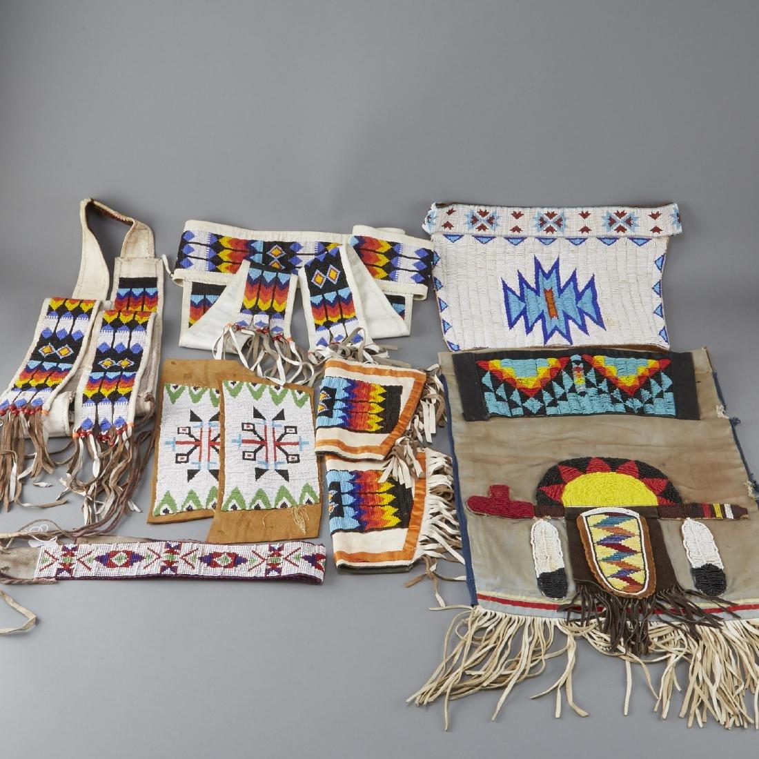 6 Native American Beaded Objects Cheyenne