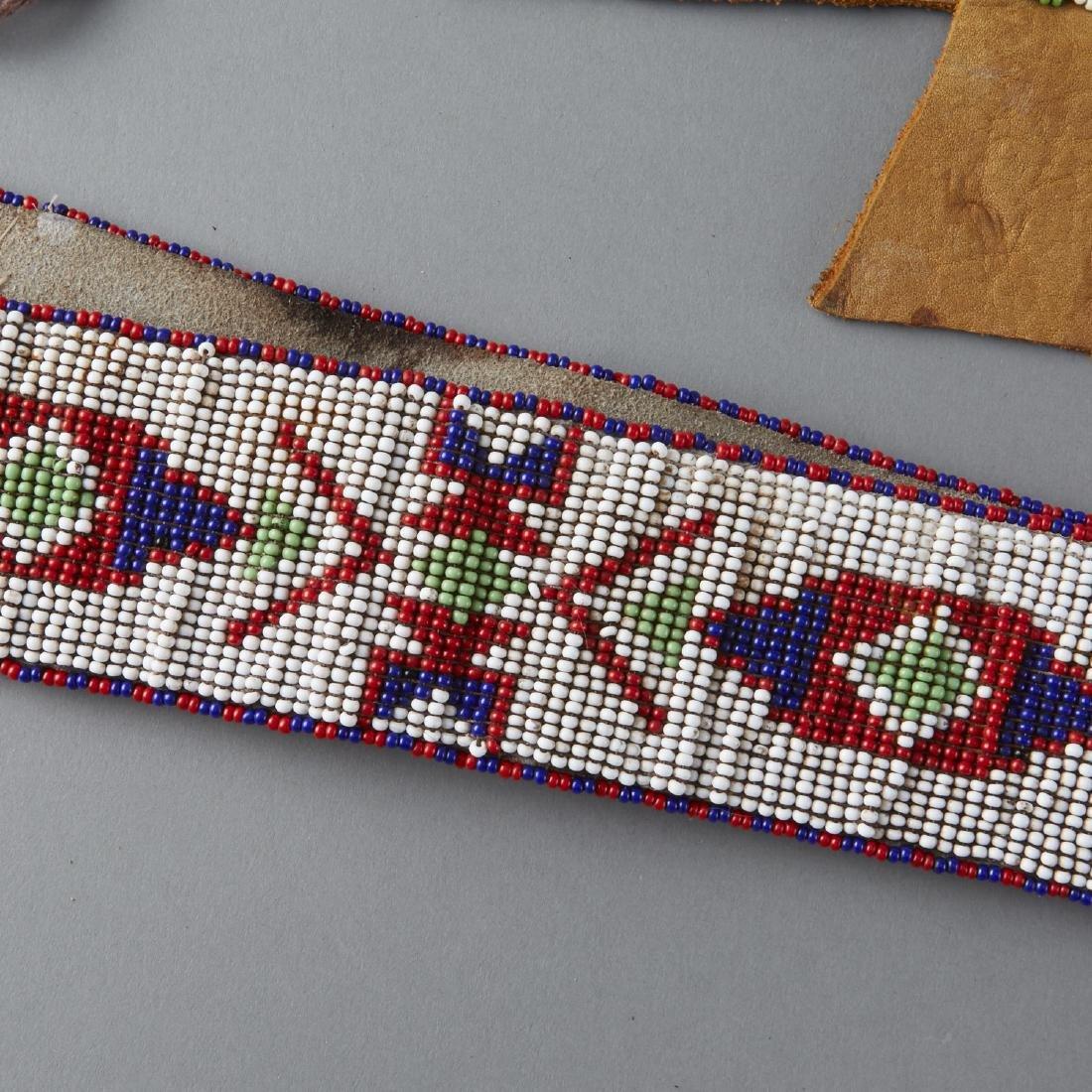 6 Native American Beaded Objects Cheyenne - 6