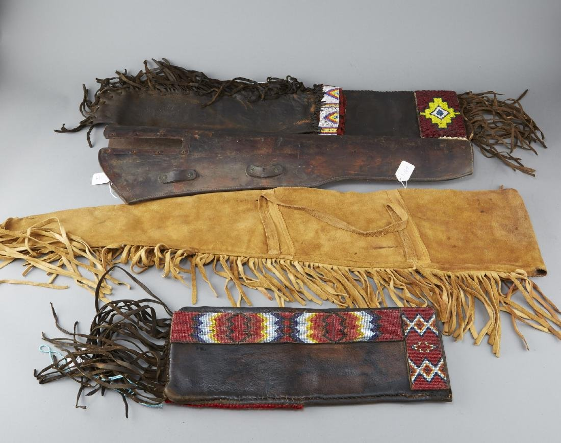 5 Native American Beaded Rifle Bags - 10