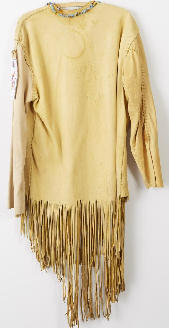 2 Native American Beaded and Fringed Leather Shirts - 2