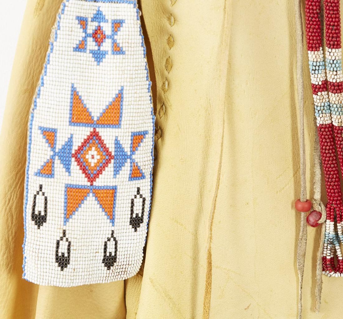 2 Native American Beaded and Fringed Leather Shirts - 7