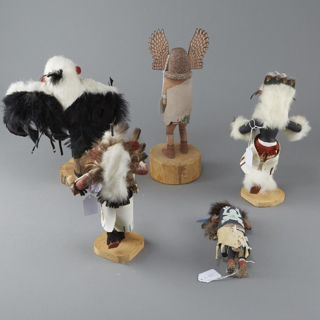 5 Kachina Figures Eagle, Chasing Star, Sio Hemis - 2
