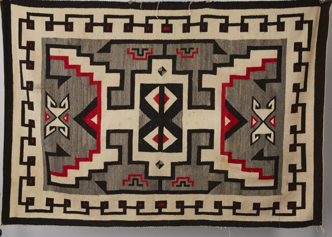 Navajo Two Grey Hills Rug Spirit Line