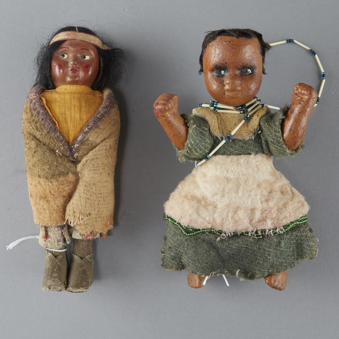 2 Native American Dolls, 1 Skookum