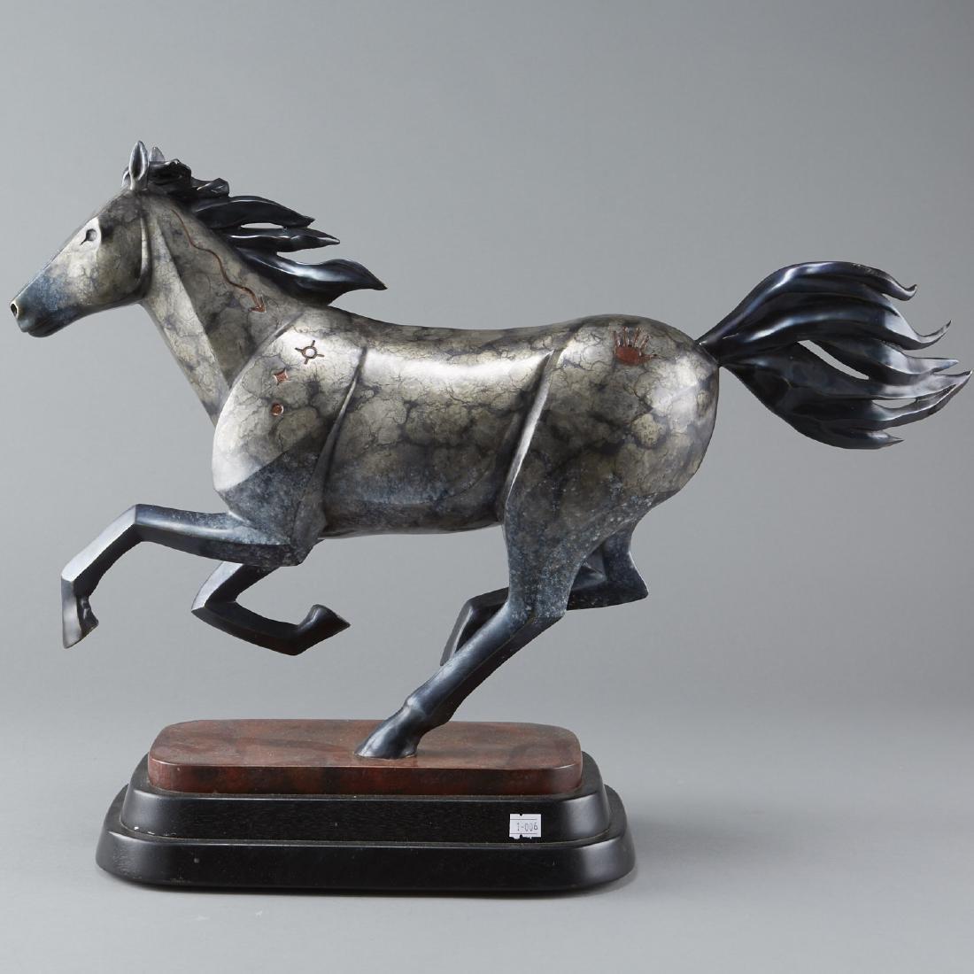 Joe Cajero Jr Freedom Bronze Horse Sculpture